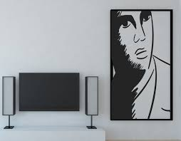 Large Vinyl Decal Wall Sticker Artistic Portrait Singer Elvis Presley Wallstickers4you