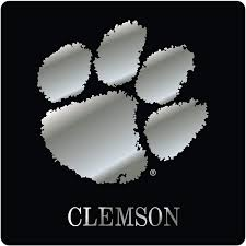 Amazon Com Craftique Clemson Tigers Decal Black Chrome Paw 4 In 6 In 4 In Automotive