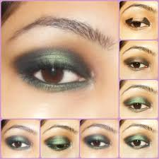 eye makeup tutorial gothic green