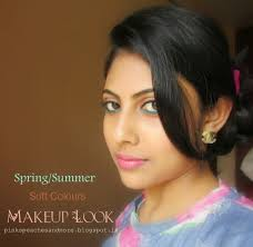 spring summer soft colours makeup look