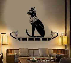 Vinyl Wall Decal Ancient Egypt Egyptian Cat God Bastet Stickers 384ig