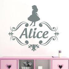 Custom Name Vinyl Wall Decal Kids Nursery Room Decals Girls Personalized Name Wall Sticker Alice In Wonderland Decor Wallpaper Decal Wallpaper Decals From Onlinegame 11 85 Dhgate Com