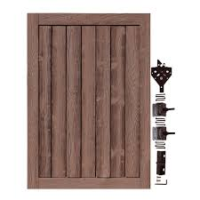 Simtek 4 Ft W X 6 Ft H Ashland Red Cedar Composite Privacy Fence Gate Wgt72x48rcd The Home Depot In 2020 Fence Gate Fence Panels Privacy Fence