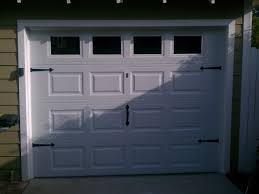 single car garage door with windows