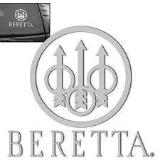 Beretta Window Decal Vinyl 1 Pc Silver