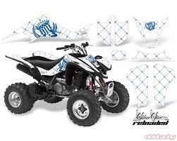 Amr Racing Graphics Kit Decal Sticker Wrap Reloaded Blue White Suzuki Ltz400 03 08 Suz Ltz400 03 08 Ssr U W