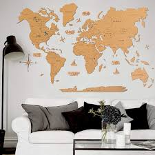 Amazon Com Cork World Map Wall Art Large Wall Decor World Travel Map All Sizes M L Xl Any Occasion Gift Idea Wall Art For Home Kitchen Or Office Handmade