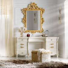 gold leaf dressing table and mirror set
