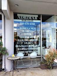 Window Graphics For Beauty Salon White Vinyl Decals Commercial Window Tinting Salons Vinyl Window Decals