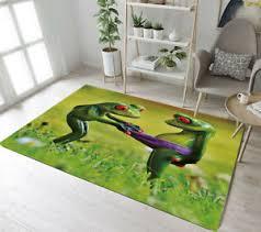 Floor Rug Mat Kids Bedroom Carpet Living Room Area Rugs Funny Frog Grass Scenic Ebay