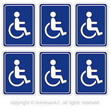 Disabled Wheelchair Stickers Handicap Access Sign Outdoor Indoor Use Vinyl Decals Uv Protected Waterproof 3 X 4 Inch 6 Labels Buy Online In India Missing Category Value Products In