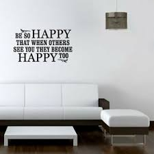 Be Happy Wall Sticker Decal Vinyl Art Mural Home Decor Removable Ebay