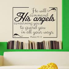 Psalms 91 11 Vinyl Wall Scripture Divine Walls