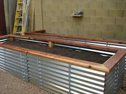 raised garden beds corrugated metal diy