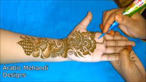 arabic front hand mehndi design