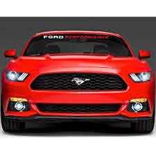 Amazon Com Jis Decals Generic Performance Car Windshield Decal 44 White Performance Red Automotive