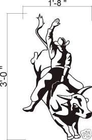 Wall Art Vinyl Decals Stickers Bull Rider Rodeo Big Dabbledown On Artfire
