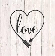 Love Arrow Decal Heart Love Decal Heart Vinyl Decal Wedding Etsy