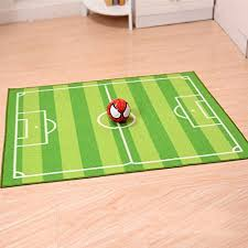 Kids Baby Mat Children Educational Football Field Play Mat For Bedroom Play Room Game Safe Area