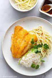 Fried Fish with Green Mango Salad ...