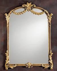 louis xv framed mirror in brown finish