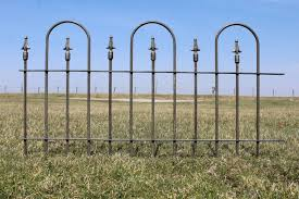 Wrought Iron Hairpin Edging Cast Iron Finial 2 Ft Fence