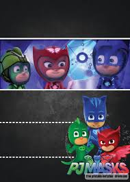 Free Pj Masks Invitation Template Chalkboard Version Convite