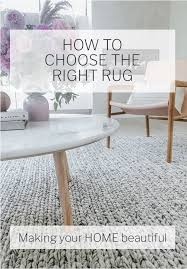 how to select the right rug making