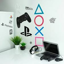 Playstation Wall Decals Officially Licensed Decals Decor Paladone