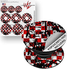 Amazon Com Decal Style Vinyl Skin Wrap 3 Pack For Popsockets Checker Graffiti Popsocket Not Included By Wraptorskinz Everything Else