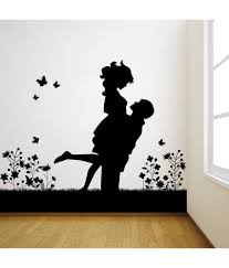 Black Wall Stickers For Bedrooms Cat Silhouette Rooms Art Big Size Romantic Light Triangle Vamosrayos
