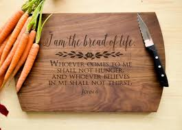 Bread of Life Cutting Board - Christian Cutting Board, Personalized We
