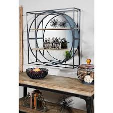 round industrial metal wall mirror