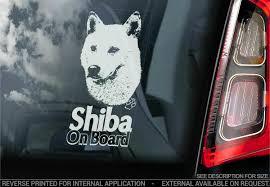 Shiba Inu Car Sticker Japanese Ken Dog Sign Window Bumper Decal Gift Pet V04 Ebay