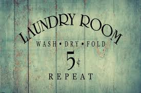 Wash Dry Fold Repeat 5 Cents Decal Home Decor Sticker Graphic