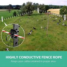 500m Stainless Steel Polywire Poly Tape Electric Fence Click To Pet