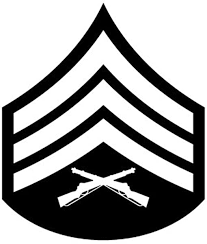 Amazon Com Military Usmc Rank Sergeant Vinyl Car Decal Black 5 By 5 Inches Automotive