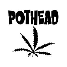 Pothead Marijuana Thc Vinyl Sticker