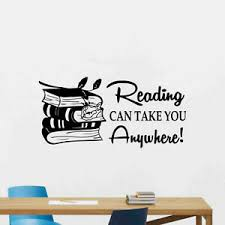 Reading Can Take You Anywhere Wall Decal Book Library Decor Vinyl Sticker 74thn Ebay