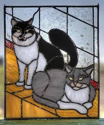 195 best stained glass cats images in