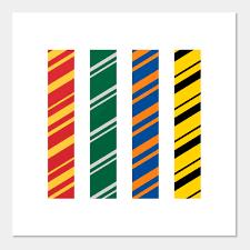 minimalist hogwarts house colors