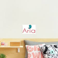 Aria Name Cute Monster Photographic Print By Projectx23 Redbubble