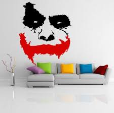 Vinyl Wall Decal Scary Face Movie Batman The Dark Knight Sticker Mural Wish