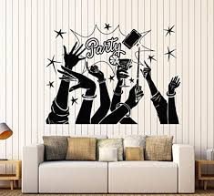 Amazon Com Firstdecals Vinyl Wall Decal Party Fun Friends Night Club Alcohol Cocktail Stickers Large Decor 981lk Home Kitchen