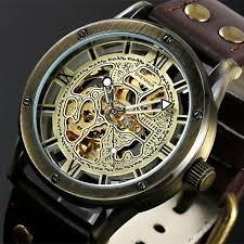 vintage bronze men s skeleton watches
