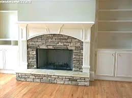 fireplace refacing with stone tile