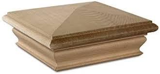 Woodway Pyramid 5x5 Post Cap Premium Cedar Wood Fence Post Cap Newel Post Top 5 X 5 Fits Up To 4 5 X 4 5 Inch Post 1 Pc Amazon Ca Tools Home Improvement