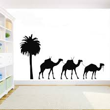 Desert Camels Wall Decal Diy Room Decoration Vinyl Animals Sticker Home Decor For Childroom Teen Room Bedroom Guestroom G1000 Wall Stickers Aliexpress