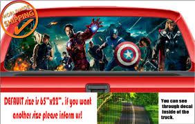 W014 The Avengers Hulk Ironman Thor Car Rear Window Decal Sticker Perforated Van For Sale Online Ebay