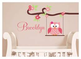 Owl Wall Decals Designed For Kid Bedrooms In 2020 Childrens Wall Decals Nursery Wall Decals Baby Girl Room